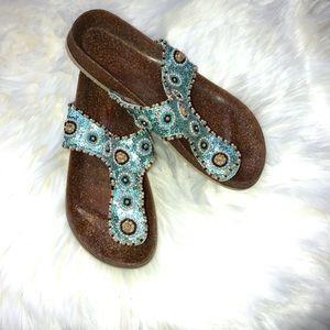 Shoes - Bedazzled Sandals